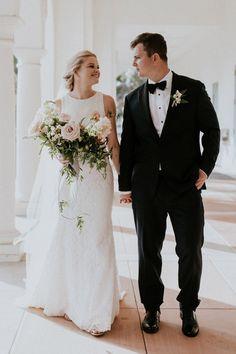 bride in white lace