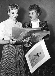 "Lucy and Elois Jenssen, who was the costume designer for two seasons of ""I Love Lucy"".  Lucy had worked with Elois on some films in the 1940s, and specially selected her to be the designer for the popular 1950s show!"