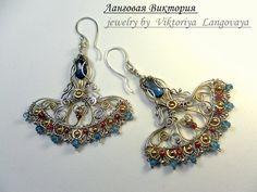Blue Topaz earrings, silver earrings, wire wrap earrings, unique earrings, dangle earrings, wedding earrings, long earrings, gift for her Topaz Earrings, Etsy Earrings, Silver Earrings, Dangle Earrings, Dragonfly Jewelry, Wire Jewelry, Jewelry Gifts, Jewelry Ideas, Jewlery