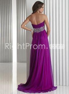 Gorgeous+Floor-Length+Chiffon+A-line+Prom+Belt+Dresses