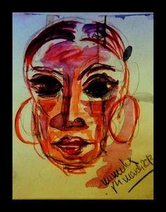 'LADY IN RED - SILENT TEARS' von mimulux bei artflakes.com als Poster oder Kunstdruck $17.33
