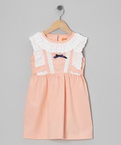 Take a look at this Pink Tie-Back Dress - Toddler & Girls on zulily today!