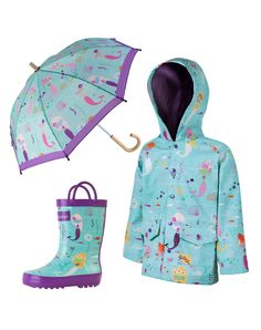 Kid's Mermaids Matching Set | Oaki - Rain Gear, Kids rain suits, kids waders, kids rain gear, and kids rain coats