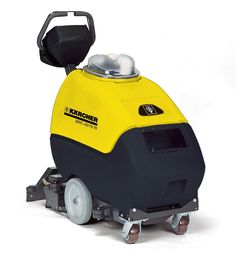Karcher's BRC 46/76 W Carpet Extractor: Self-propelled for increased productivity. Provides superior cleaning performance and innovative technology in a durable, easy-to-use design. Its all-in-one controls and ergonomically designed handle simplifies use and increases operator comfort.  A low profile and compact design provides exceptional maneuverability that helps insure professional results during every use. Optional accessories for spot, stair & furniture cleaning.