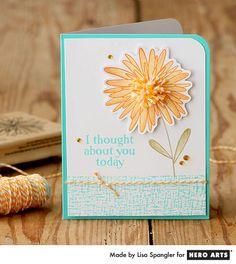 Hero Arts Cardmaking Idea: Pom Pom Flower