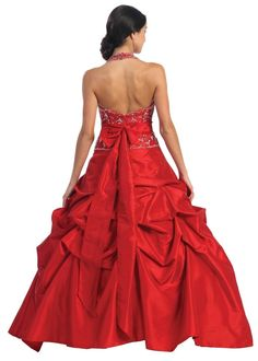 Ball Gown Formal Prom Wedding - Back View