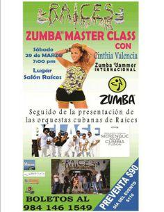 Zumba in Playa del Carmen this Saturday evening!