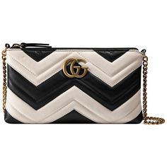 Gucci Gg Marmont Mini Chain Bag (3.060 BRL) ❤ liked on Polyvore featuring bags, handbags, shoulder bags, chevron purse, chain shoulder bag, chain strap purse, gucci purses and gucci handbags