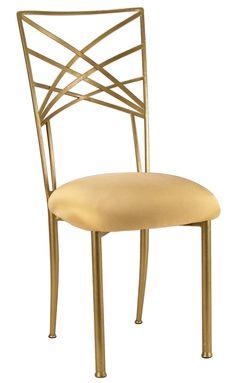 Gold Fanfare with Gold Stretch Knit Cushion #events #eventdesign #eventdecor #weddingideas #eventprofs #wedding #weddingdecor #chairdesign #chairs #weddingchairs