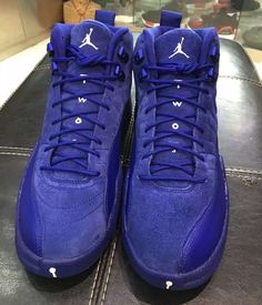 Another look at the upcoming Air Jordan 12 Deep Royal Blue is featured. Find it at select Jordan Brand stores on November Sneakers Fashion, Fashion Shoes, Women's Sneakers, Ladies Sneakers, Sneakers Design, Teen Fashion, Runway Fashion, Fashion Tips, Me Too Shoes