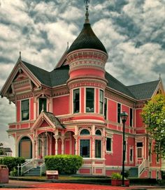 Victorian Home painted coral
