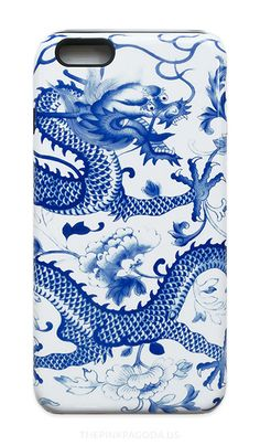 This Blue and White Chinese Dragon iPhone Case is for anyone who loves blue and white, Chinese dragons, or Chinoiserie....
