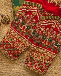 Saree Jacket Designs, Blouse Designs High Neck, Wedding Saree Blouse Designs, Best Blouse Designs, Hand Work Blouse Design, Simple Blouse Designs, Stylish Blouse Design, Dress Designs, Hand Embroidery Design Patterns