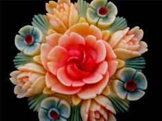 Just to brighten your day!    Art Deco Enamel Floral Celluloid Estate Brooch Pin Antique Flower