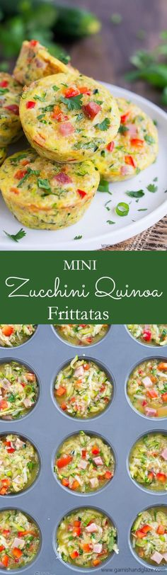 These veggie packed, high protein Mini Zucchini Quinoa Frittatas are perfect for…