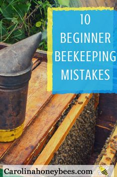 Becoming a beekeeper is rewarding but it is not always easy. Here are 10 beekeeping mistakes that I see beginners make. Maybe it will help you avoid them and become a better beekeeper. Beekeeping Equipment, Beekeeping Supplies, Beekeeping For Beginners, Raising Bees, Bee Farm, Backyard Beekeeping, Save The Bees, Hobby Farms, Busy Bee