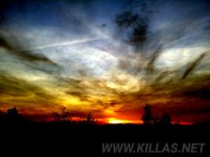 Was für ein #Sonnenuntergang. #Abendhimmel #Iserlohn #Stadtwald #Sauerland