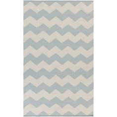 Vogue Collins Light Blue and White Rectangular: 2 Ft x 3 Ft Rug