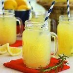 Show your school spirit by whipping up any of these team-inspired tailgating recipes, starting with War Eagle Lemonade from Auburn University! Tailgating Recipes, Tailgate Food, Cheers, Lynchburg Lemonade, Rosemary Lemonade, Yummy Drinks, Yummy Food, A Table, Football Food