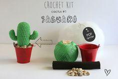 Crochet Kit Cactus #1 Saguaro, faire votre propre cactus de toutes les couleurs