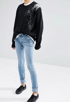 The pale-blue wash on these means they're an ideal candidate for double-denim styling. Super casual but equally sleek