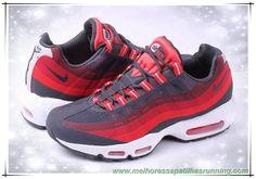 Nike Air Max 95 No-Sew antracite/vermelho desafio/Gym Vermelho/Carmesim Laser 616190-001 Masculino