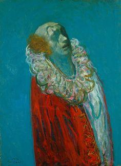 「出を待つ」 1976年 鴨居玲 Poster Photography, Send In The Clowns, Sketchbook Inspiration, Japan Art, Vincent Van Gogh, Figure Painting, Figurative Art, Caricature, Contemporary Art