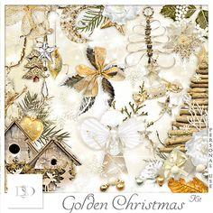 Golden Christmas Kit by D's Design