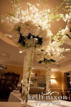 White Centerpiece Centerpieces Indoor Reception Summer Winter Wedding Flowers Photos & Pictures - WeddingWire.com