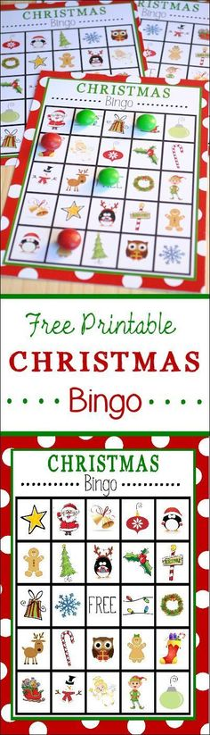 Christmas Bingo Printable. So fun. This Christmas Bingo would be perfect for classroom Christmas parties!