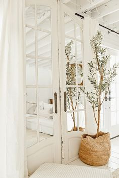 Liz Marie shares her newest find, Arichetectural Salvage Doors with Mirrors. Check out why she loves these in here favorite space in the home. Modern Farmhouse Decor, Farmhouse Style Decorating, Red Farmhouse, Home Remodeling Diy, Bathroom Remodeling, Boho Home, Mirror Door, Mirror House, Shower Remodel