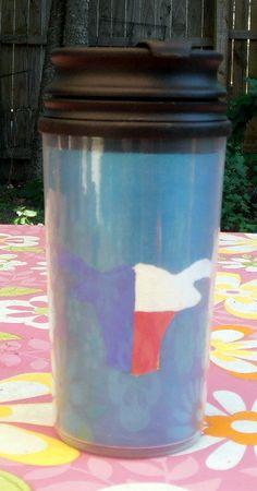14 oz  Yellow Rose of Texas Travel Mug by InspriationWorkshop, $16.00