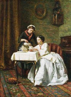 Time for Tea ~ Théophile Emmanuel Duverger ~ (French: 1821-1901)