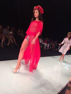 My fav... #FlowerPower #Runway in #Red at #MiamiFashionWeek