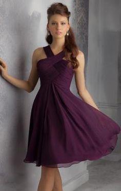 2015 Grape Bridesmaid Dress BNNBE0012