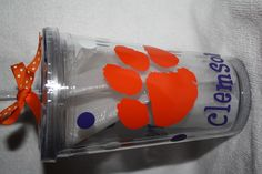 Clemson Tigers! I have the tumblers, just need a cricut and vinyl!