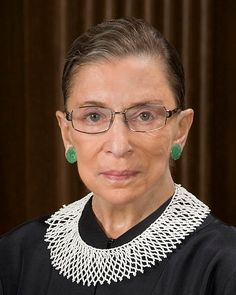 Justice Ruth Bader Ginsburg, second female justice on the US Supreme Court.