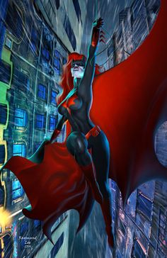 Batwoman flies through Gotham! Marvel Dc, Marvel Comics, Comics Anime, Dc Comics Art, Comics Girls, Batwoman, Dc Batgirl, Batman Universe, Dc Universe