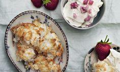 Coconut macaroons, mascarpone cream. Photograph: Jonathan Lovekin