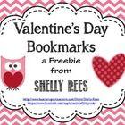 Valentine's Day Bookmarks FREE
