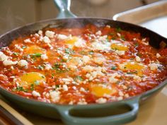 Get Shakshuka with Feta Recipe from Food Network