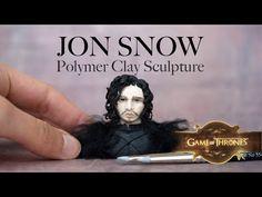 Jon Snow Sculpture en Pâte Polymère Fimo // Fan Art Game of Thrones, Le ...