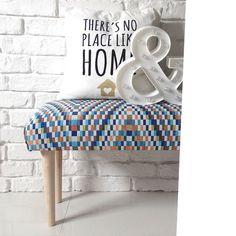 meble - pufy, stołki, ławy-ŁAWKA ławeczka wzorzysta tapicerowana pufa BARCA