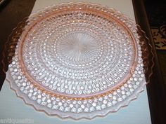 Jeannette Holiday (Buttons & Bows) footed cake plate