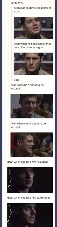 Dean will always protect Sammy... until now. Season 10 premiere-- i hate you.