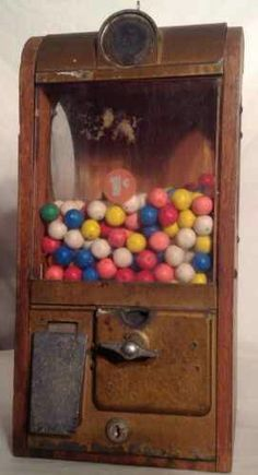 Old gumball machines