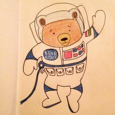 #mywork #illustration #bearcartoon #astronautbear