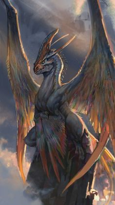 Feathered dragon fantasy rpg monster world building , [post_tags Mythical Creatures Art, Magical Creatures, Feathered Dragon, Dragon Sketch, Dragon Artwork, Dragon Drawings, Wolf Drawings, Art Drawings, Fantasy Beasts
