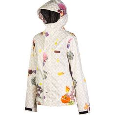 DC Data 13 Jacket – Women's Flower Dots, XL The DC Data 13 Women's Snowboard Jacket has a streetwear-inspired look that's sure to turn heads