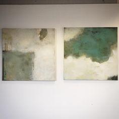 "Sam Lock - Artist on Instagram: ""New pair of 100x100cm paintings #light #colour #surface #texture #space #art #abstract #mixedmedia #studio #seaside"""
